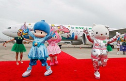 Những chuyến bay siêu dễ thương ngập tràn hình tượng Hello Kitty
