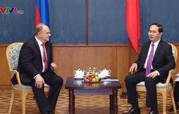 Chủ tịch nước Trần Đại Quang gặp Chủ tịch Đảng Cộng sản Liên bang Nga