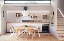 Ngôi nhà của bạn vẫn có thể nổi bật nhờ gam màu nhẹ nhàng, mộc mạc này