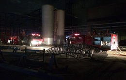 Thanh Hóa: Cháy nhà máy sản xuất dầu ăn đang trong quá trình xây dựng