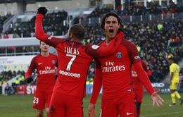 Nantes 0-2 PSG: Dấu ấn Cavani!