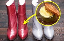 Mẹo hay làm sạch giày da và quần áo