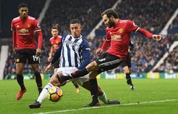 TRỰC TIẾP BÓNG ĐÁ Vòng 18 Ngoại hạng Anh, West Brom 0-0 Man Utd: Hiệp một