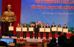 16 công trình nhận Giải thưởng Hồ Chí Minh, Giải thưởng Nhà nước về khoa học và công nghệ