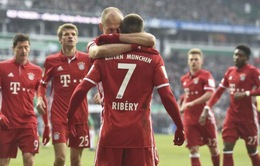 Werder Bremen 1-2 Bayern Munich: Robben, Alaba lập công