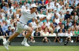 Murray quên cả đau đớn để thắng trận mở màn Wimbledon 2017