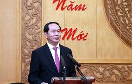 Chủ tịch nước Trần Đại Quang thăm và chúc Tết tại Ninh Bình