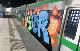 Điều tra kẻ đột nhập dùng sơn vẽ lên đoàn tàu Cát Linh - Hà Đông