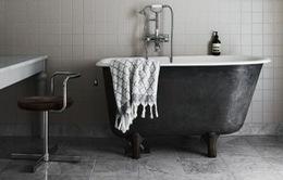 Trang trí nhà tắm với hai màu đen trắng, tưởng đơn điệu nhưng hóa ra sang trọng không ngờ