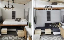 Căn nhà tí hon với đồ đạc được thiết kế cực thông minh