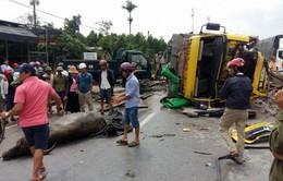 Lật xe chở trâu gây ách tắc QL1 đoạn qua tỉnh Quảng Bình