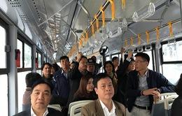 Sở GTVT Hà Nội: Xe bus nhanh BRT thường xuyên có lượng hành khách cao
