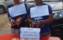 Bắt 2 đối tượng người Lào vận chuyển hơn 40.000 viên ma túy