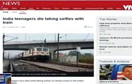 Ấn Độ: Thiếu niên tử vong khi đang chụp selfie với tàu hỏa