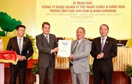 Tập đoàn Hoa Sen lần thứ 2 nhận giải thưởng Công ty được quản lý tốt nhất châu Á