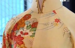Duyên dáng áo dài từ chất liệu vải Nhật