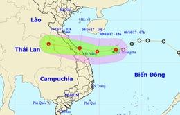 Chiều nay (9/10), tâm áp thấp nhiệt đới trên vùng biển Quảng Bình - Đà Nẵng