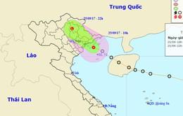 Áp thấp nhiệt đới đã áp sát bờ biển Quảng Ninh - Hải Phòng