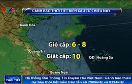 Áp thấp nhiệt đới hướng thẳng về đất liền phía Bắc miền Trung