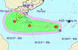 Áp thấp nhiệt đới mạnh thêm