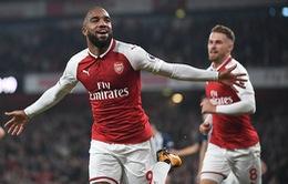 Lacazette tỏa sáng, Arsenal đánh bại West Brom