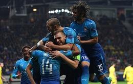 Kết quả lượt trận thứ 2 vòng bảng Europa League: Arsenal thắng đậm, Everton mất điểm