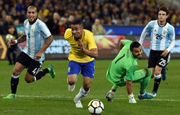Giao hữu quốc tế: ĐT Brazil 0-1 ĐT Argentina: Màn ra mắt thành công của HLV Jorge Sampaoli