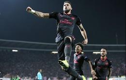 Kết quả Europa League 2017: Arsenal thắng nhọc tại Serbia, AC Milan gây thất vọng