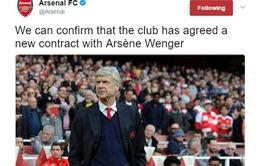 CHÍNH THỨC: Arsenal gia hạn hợp đồng thêm 2 năm với HLV Arsene Wenger