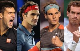 Cuộc đua cho vị trí số 1 thế giới của 5 tay vợt nam