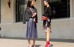 Chân dài Vietnam's Next Top Model nổi bần bật trong phong cách thời trang đường phố