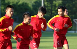 VIDEO: U20 Việt Nam tập buổi đầu tiên tại Jeonju, chuẩn bị cho trận gặp U20 Honduras