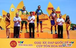 Kết quả chi tiết giải xe đạp quốc tế VTV Cúp Tôn Hoa Sen 2017: Desriac Loic thắng chặng 10, áo vàng đổi chủ