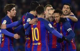 Tứ kết lượt đi Cúp nhà Vua TBN: Sociedad 0-1 Barcelona