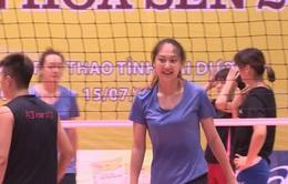Đội bóng chuyền nữ Đại học Thể thao Bắc Kinh sẵn sàng cho lượt trận thứ 2 tại VTV Cup Tôn Hoa Sen 2017