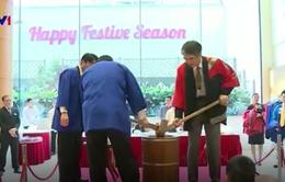 Tái hiện lễ giã bánh dày đón năm mới của người Nhật tại Hà Nội