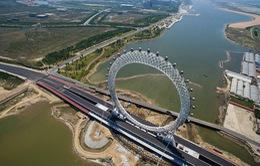 Trung Quốc khai trương vòng đu quay không trục lớn nhất thế giới