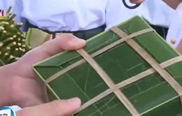 Bánh chưng gói bằng lá bàng vuông, lá dứa ở Trường Sa