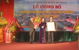 Quảng Bình đón nhận hai đô thị mới loại IV