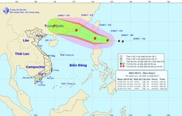 Bão giật cấp 10 xuất hiện gần Biển Đông