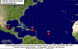 Châu Mỹ đón 3 cơn bão nhiệt đới cùng lúc