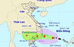 Bão số 14 đổ bộ đất liền Khánh Hòa - Bình Thuận trong sáng đến trưa mai (19/11)