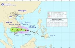Tâm bão số 14 cách bờ biển các tỉnh Khánh Hòa - Ninh Thuận - Bình Thuận khoảng 330km