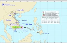 Bão số 14 đã suy yếu thành áp thấp nhiệt đới, gió mạnh cấp 6-7