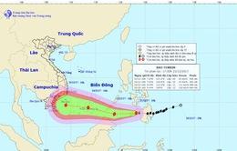Đêm 23/12, bão Tembin tiến nhanh vào Biển Đông