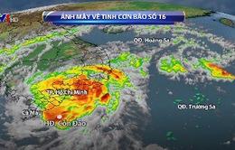 Bão số 16 gây mưa gió mạnh ở Nam Bộ trong ngày và đêm nay (25/12)
