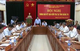 Quảng Trị báo cáo kết quả công tác phòng chống tham nhũng