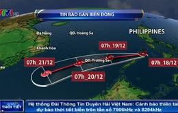 Bão Kai-Tak đang tiến vào Biển Đông, khả năng sẽ mạnh thêm