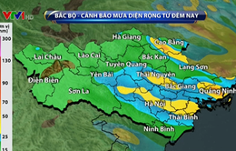 Hoàn lưu bão số 11 kết hợp không khí lạnh gây mưa diện rộng cho miền Bắc