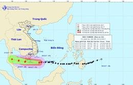 Tâm bão số 16 cách Côn Đảo khoảng 320km về phía Đông